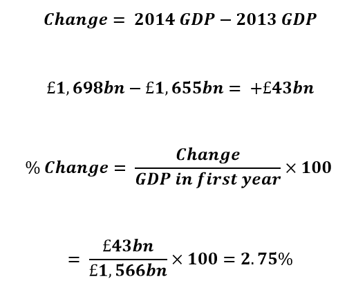 steps for calculating economic growth rate